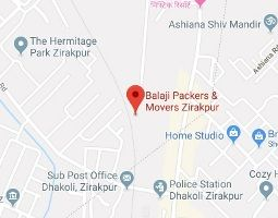 balaji packers and movers zirakpur map location
